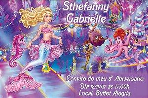 Convite digital personalizado da Barbie 044