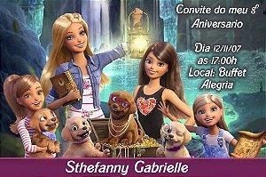 Convite digital personalizado da Barbie 047