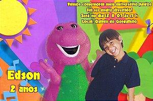 Convite digital personalizado do Barney 002