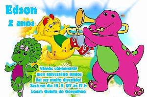 Convite digital personalizado do Barney 003