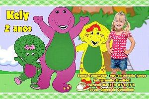 Convite digital personalizado do Barney 005