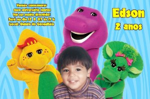 Convite digital personalizado do Barney 007