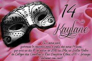 Convite digital personalizado Mascara 001