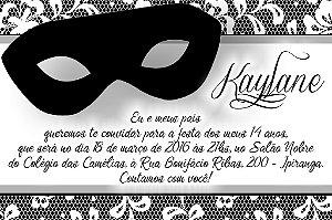Convite digital personalizado Mascara 006