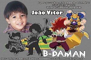 Convite digital personalizado B-Daman 001