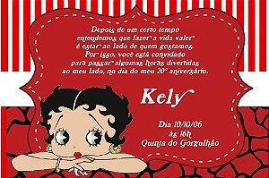 Convite digital personalizado Betty Boop 001