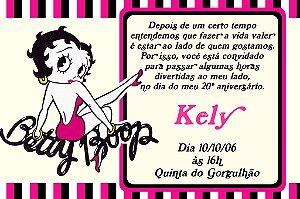Convite digital personalizado Betty Boop 003