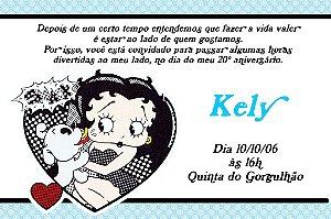 Convite digital personalizado Betty Boop 004