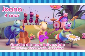 Convite digital personalizado Big Bugs Band 003