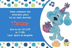 Convite digital personalizado As Pistas da Blue 001