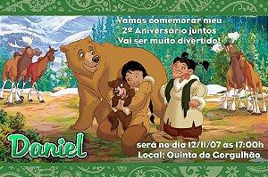 Convite digital personalizado Irmão Urso 002