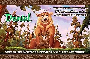 Convite digital personalizado Irmão Urso 003