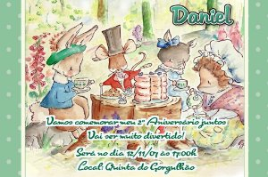 Convite digital personalizado Beatrix Potter 002
