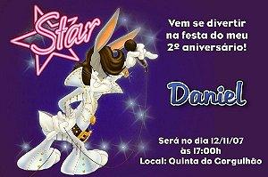 Convite digital personalizado Pernalonga 001