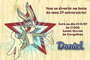 Convite digital personalizado Pernalonga 002