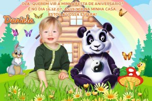 Convite digital personalizado Panda 001