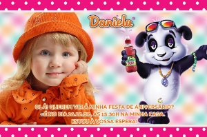 Convite digital personalizado Panda 002
