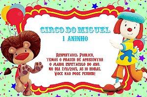 Convite digital personalizado O Circo da Jojô 001
