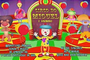 Convite digital personalizado O Circo da Jojô 002
