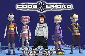 Convite digital personalizado Code Lyoko 001