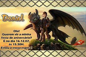 Convite digital personalizado Como Treinar o Seu Dragão 002