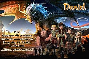 Convite digital personalizado Como Treinar o Seu Dragão 003