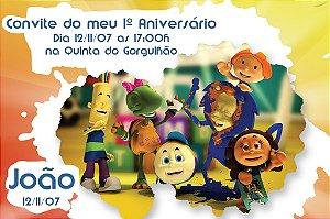 Convite digital personalizado Crianças Diante do Trono 001