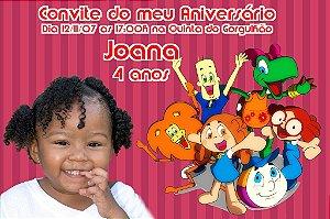 Convite digital personalizado Crianças Diante do Trono 003