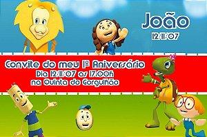 Convite digital personalizado Crianças Diante do Trono 005
