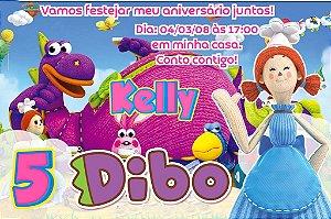 Convite digital personalizado Dibo o Dragão dos Desejos 012