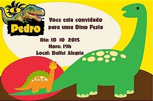 Convite digital personalizado Dinossauros 001