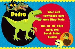 Convite digital personalizado Dinossauros 002
