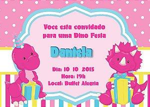 Convite digital personalizado Dinossauros 004