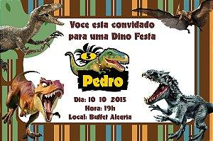 Convite digital personalizado Dinossauros 009
