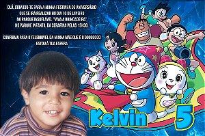 Convite digital personalizado Doraemon 001