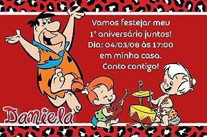 Convite digital personalizado Flintstones 001