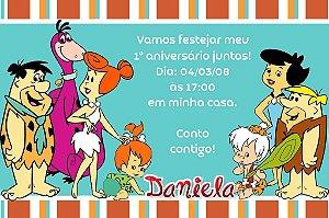 Convite digital personalizado Flintstones 002