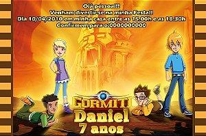 Convite digital personalizado Gormiti - Os Invenciveis Senhores da Natureza 004