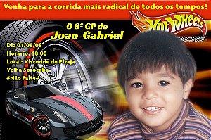 Convite digital personalizado Hot Wheels 002