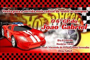 Convite digital personalizado Hot Wheels 003