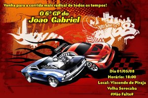 Convite digital personalizado Hot Wheels 004