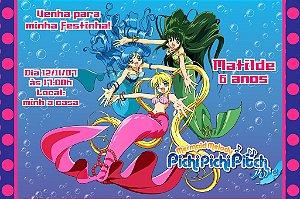 Convite digital personalizado Mermaid Melody Pichi Pichi Pitch 002