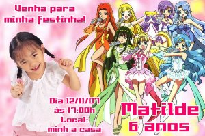 Convite digital personalizado Mermaid Melody Pichi Pichi Pitch 003