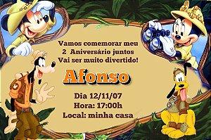 Convite digital personalizado Mickey Safari 001