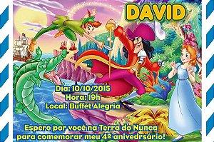 Convite digital personalizado Peter Pan 007