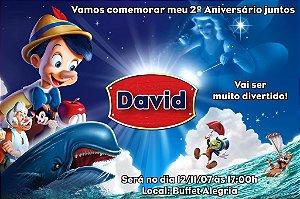 Convite digital personalizado Pinóquio 004