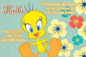 Convite digital personalizado Piu-piu Tweety 005