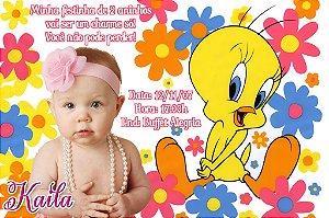 Convite digital personalizado Piu-piu Tweety 008