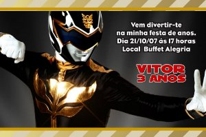 Convite digital personalizado Power Rangers 002