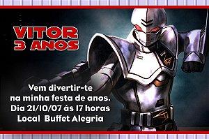 Convite digital personalizado Power Rangers 005